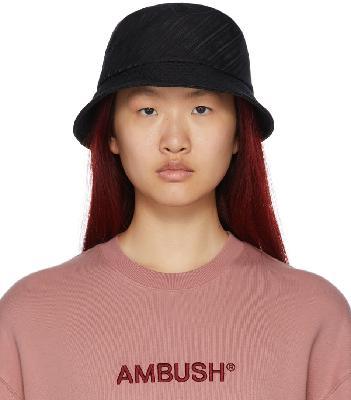 AMBUSH Black Canvas Logo Bucket Hat
