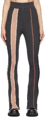 AMBUSH Grey Ribbed Striped Lounge Pants