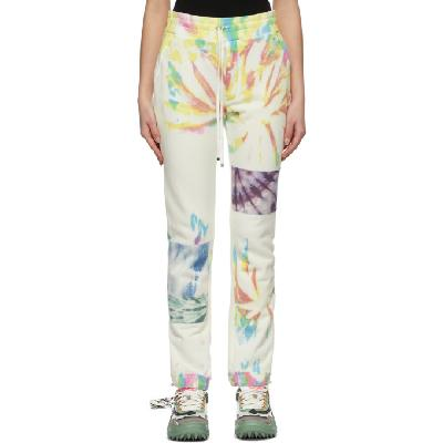 AMIRI White Tie Dye Art Patch Lounge Pants
