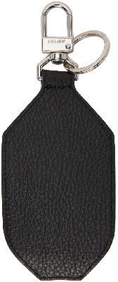 AMIRI Black Leather Hand Sanitizer Holder Keychain