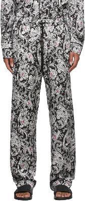 AMIRI Black & White Paisley PJ Lounge Pants