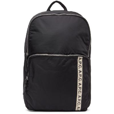 A.P.C. Black Vertical Repeat Backpack