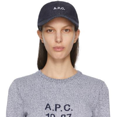 A.P.C. Indigo Denim Charlie Cap