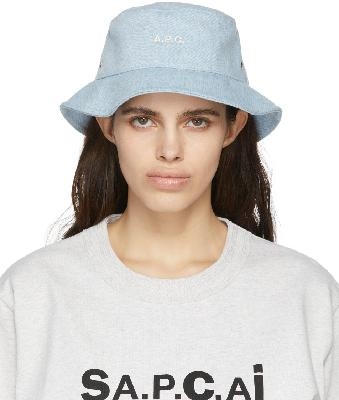 A.P.C. Blue Denim Alex Bucket Hat