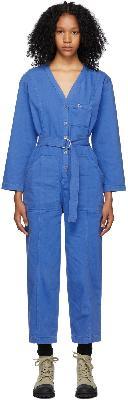 A.P.C. Blue Denim Gaelle Jumpsuit