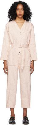 A.P.C. Pink Denim Gaelle Jumpsuit