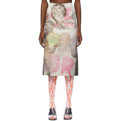 Ashley Williams Multicolor & Black Mask Skirt