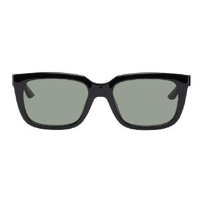 Balenciaga Black Typo Square Sunglasses