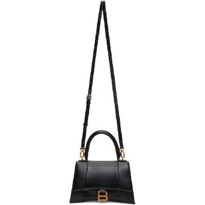 Balenciaga Black Shiny Small Hourglass Bag