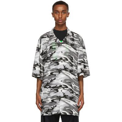 Balenciaga Grey Sporty Mesh Shirt