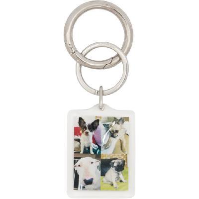 Balenciaga Multicolor I LOVE PETS Dog Keychain