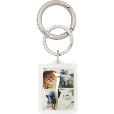 Balenciaga Multicolor I LOVE PETS Cats Keychain