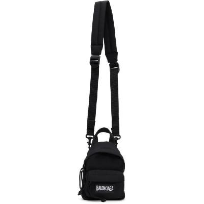 Balenciaga Black Nylon Mini Backpack