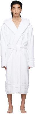 Balenciaga White Terrycloth Resorts Robe