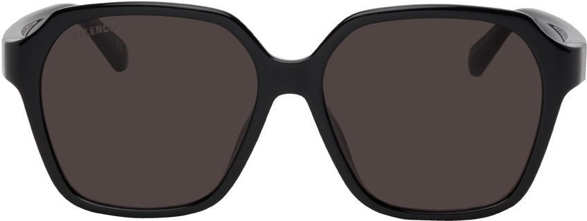 Balenciaga Black Side Square Sunglasses