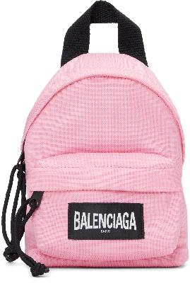 Balenciaga Pink Mini Oversized Backpack