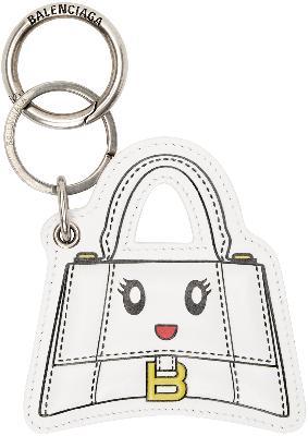 Balenciaga White Hourglass Mirror Keychain