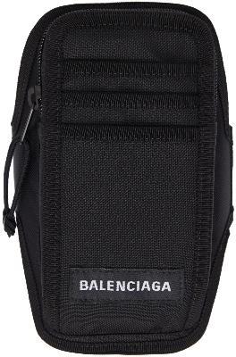 Balenciaga Black Explorer Arm Phone Holder Pouch
