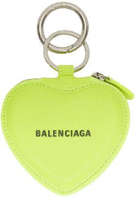 Balenciaga Cash Heart Mirror Keychain