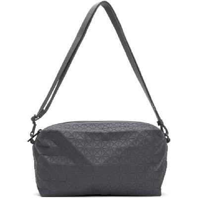 Bao Bao Issey Miyake Grey One-Tone Saddle Bag