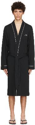 Boss Black Cotton Kimono Robe
