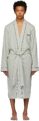 Boss Grey Cotton Kimono Robe
