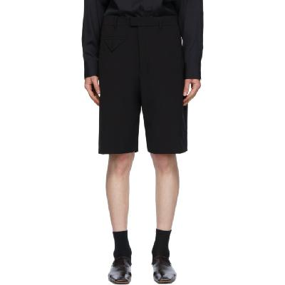 Bottega Veneta Black Technical Canvas Shorts