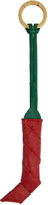 Bottega Veneta Red & Green Intrecciato Pepper Keychain