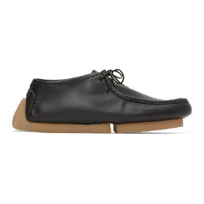 Bottega Veneta Black Driver Lace-Up Loafers