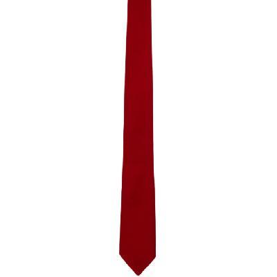 Bottega Veneta Red Silk Tie