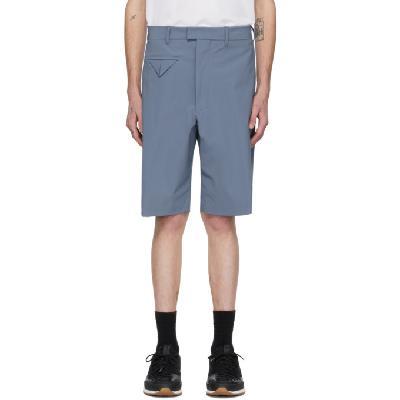 Bottega Veneta Blue Stretch Nylon Shorts