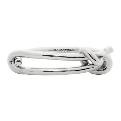Bottega Veneta Silver Knot Bracelet
