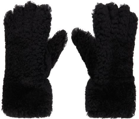 Bottega Veneta Black Shearling Gloves