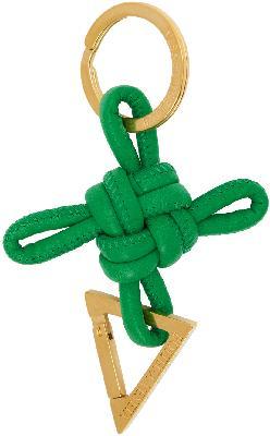 Bottega Veneta Green Intertwined Keychain