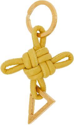 Bottega Veneta Yellow Intertwined Keychain