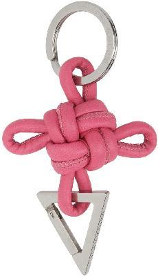 Bottega Veneta Pink Intertwined Keychain