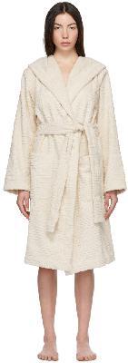 Bottega Veneta Off-White Intrecciato Bath Robe