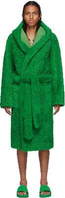 Bottega Veneta Green Teddy Shearling Robe