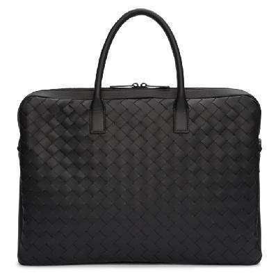 Bottega Veneta Black Medium Intrecciato Briefcase
