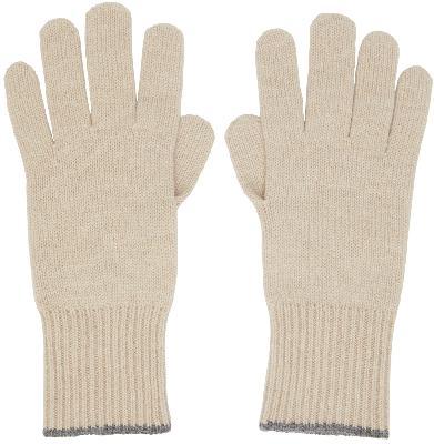 Brunello Cucinelli Beige Cashmere Gloves