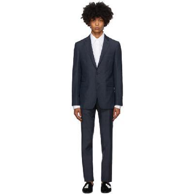 Burberry Blue Check Slim Suit