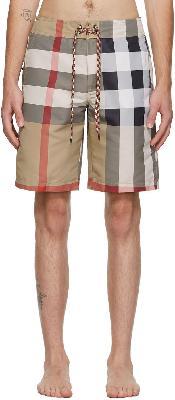 Burberry Beige Breton Swim Shorts