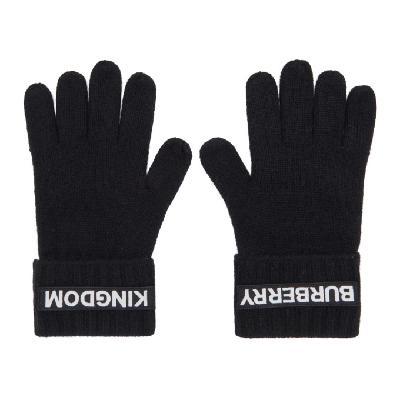 Burberry Black Cashmere Logo & 'Kingdom' Gloves