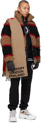 Burberry Grey Merino Monogram Gloves