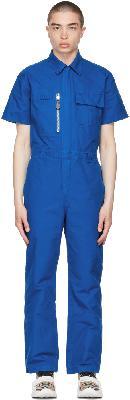 Burberry Blue Cotton Canvas Boiler Jumpsuit