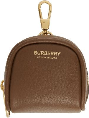 Burberry Brown Cube Bag Charm Keychain