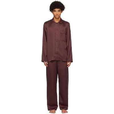 CDLP Burgundy Home Suit Long Sleeve Pyjama Set