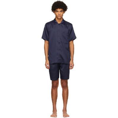 CDLP Navy Home Suit Short Sleeve Pyjama Set