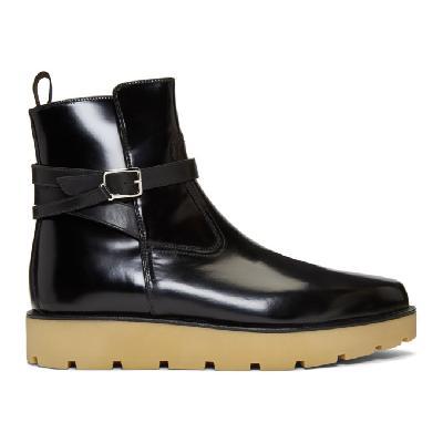 Christian Louboutin Black Kicko Crepe Boots