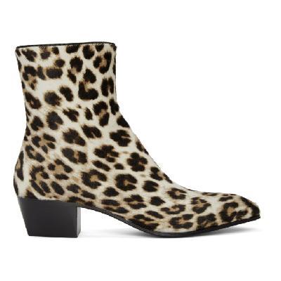 Christian Louboutin Black & White Pony Jolly Boots